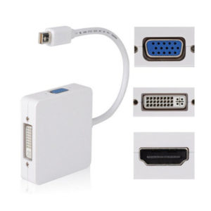 Переходник для MacBook MiniDP - VGA/DVI/HDMI